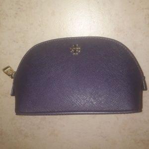 Tory Burch ROBINSON saffiano leather cosmetic bag